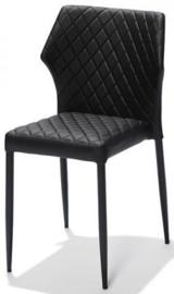 52003 - Louis Zwart modieuze kunstlederen stapelstoel, tevens ook brandvertragend VEBA