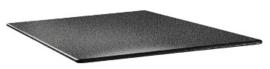 DR962 -Topalit Smartline vierkant tafelblad antraciet -Afmeting: 70x70cm