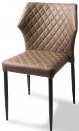 52001 - Louis Cognac Modieuze kunstlederen stapelstoel, tevens ook brandvertragend heeft een zeer karaktervolle industriële uitstraling VEBA