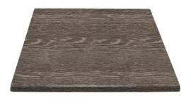 HC295 -Bolero vierkant tafelblad wengé 70cm