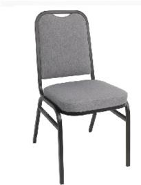 DA602 -Bolero stalen stapelstoel met vierkante rugleuning grijs