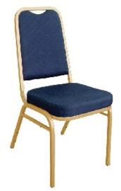 DL015 -Bolero stapelstoel met vierkante rugleuning blauw