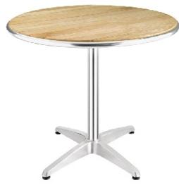 U429 -Bolero ronde tafel met essenhouten blad 80cm
