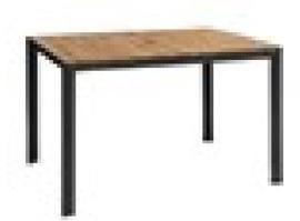 DS153 -Bolero rechthoekige stalen en acaciahouten tafel 120x80cm