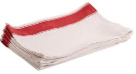 B477 -Olympia gastro servetten met rode rand
