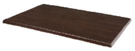CW131 -Bolero rechthoekig tafelblad donkerbruin