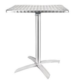 CG838 -Bolero vierkante bistrotafel met kantelbaar RVS blad 60cm