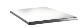 DR914 -Topalit Classic Line vierkant tafelblad wit