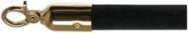 10103BB - Velours afzetkoord zwart met messing lengte 157 cm VEBA