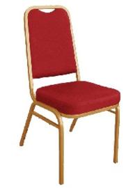 DL016 -Bolero stapelstoel met vierkante rugleuning rood (4 stuks)