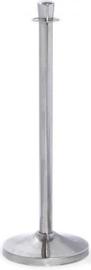 10100C - Royal Afzetpaal rvs gepolijst is uitgevoerd met een rechthoekige kop VEBA