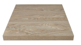 GR325 -Bolero vierkant tafelblad Antique Natural 60cm