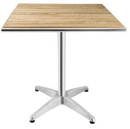 CG835 -Bolero vierkante bistrotafel met essenhouten blad 70cm