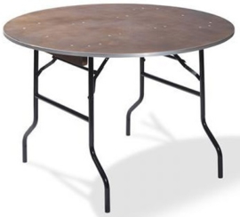20152 - Diner Tafel Hout Rond Ø152 cm zwart frame met een 18 mm multiplex tafelblad VEBA