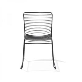 50800 - Wire chair zwart stoere draadstaal stoel VEBA