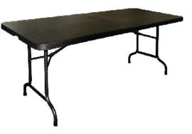 CB518 -Bolero inklapbare tafel zwart 183cm