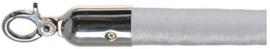 10103WS - Velours afzetkoord wit chrome  lengte 157 cm VEBA