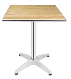 U430 -Bolero vierkante tafel met essenhouten blad 60cm