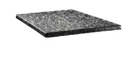 DR906 -Topalit vierkant tafelblad zwart graniet -Afmeting: 60x60cm