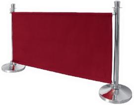 CF138 - Bolero canvas afzetdoek rood 70(h) x 143(b) x 2(d)cm