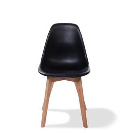 505F01SB - Keeve Trendy Zwart een hippe en strakke stoel zonder arm leuning van VEBA