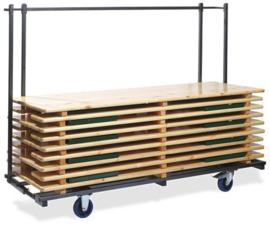 T90800 - Trolley Beerset is uitschuifbaar en daardoor geschikt voor alle bierbankgroottes