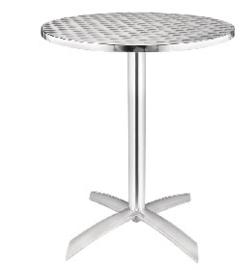 U423 -Bolero ronde tafel met kantelbaar RVS blad 60cm