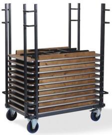 T90700 - Trolley Event Straight is geschikt voor rechthoekige klaptafels