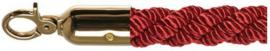 10102RB - Luxe afzetkoord rood met messing lengte 157 cm VEBA