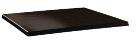 DR925 -Topalit Classic Line rechthoekig tafelblad wengé