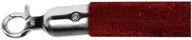 10103BRS - Velours afzetkoord bordeaux rood geborsteld rvs lengte 157 cm VEBA