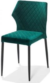 52002 - Louis Verlours Groen modieuze velours stapelstoel, tevens ook brandvertragend VEBA