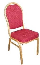 U525 -Bolero stapelstoel met ovale rug rood (4 stuks)