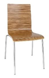 GR344 -Bolero stoel met vierkante rug eiken - 4 stuks