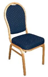 U526 -Bolero stapelstoel met ovale rug blauw (4 stuks)