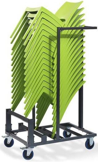 T90920 - Trolley Stack 15 is geschikt voor bijna elke stapelstoel