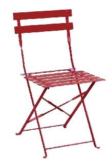 GH555 -Bolero stalen opklapbare stoelen rood