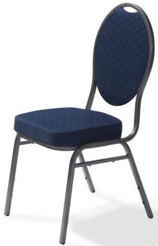 50321 - Stapelbare stoel Palace metalen frame in hamerslag blauw VEBA