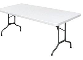 U579 -Bolero rechthoekige inklapbare tafel grijs 1,83m
