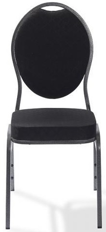 50320 - Stapelbare stoel Palace metalen frame in hamerslag zwart VEBA