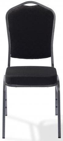 50360 - Stapelbare stoel Castle metalen frame in hamerslag zwart