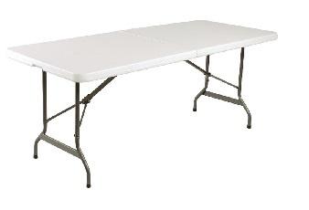 L001 -Bolero inklapbare tafel wit 183cm