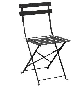 GH553 -Bolero stalen opklapbare stoelen zwart