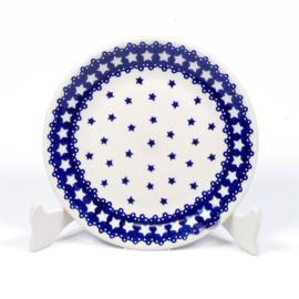 Gebakbordje - ster blauw