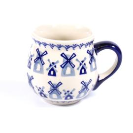 Bolmokje medium - molen blauw