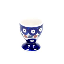 Eierdopje - blauw oogje met strik