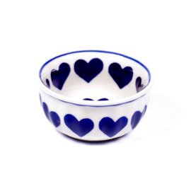 Bakje 9cm - hartje groot blauw
