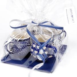 Bolmokje small  cadeau set van 4 blauw