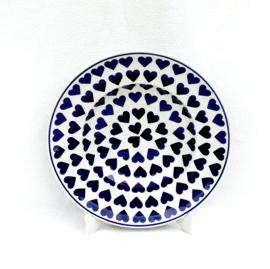 Pasta bord 29cm - hartje groot blauw