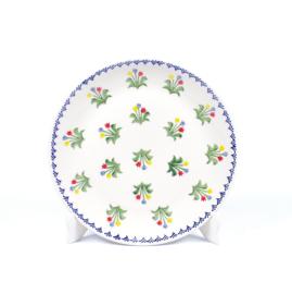 Dinerbord - tulp gemengd blauw-geel-rood